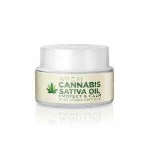 Crema Hidratante SPF 30 Protege y Calma Todo el Día con Aceite de Cannabis Sativa